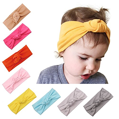 3a84f394c Urbun Baby Girls Headbands Wool Knitting Fabrics Turban Hairbands ...